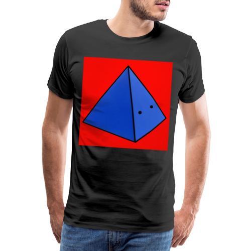 Fond rouge piramide - T-shirt Premium Homme