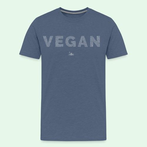 Vegan - White - Premium-T-shirt herr