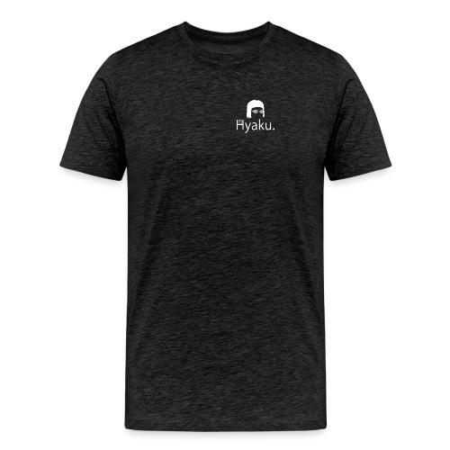 Hyaku White - Premium T-skjorte for menn