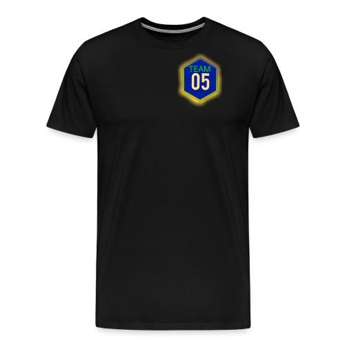 Gult lysene team05 logo - Herre premium T-shirt