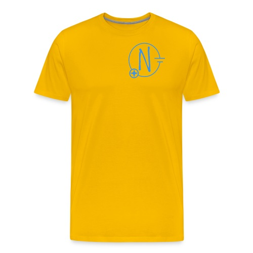 Logo1 blau - Männer Premium T-Shirt