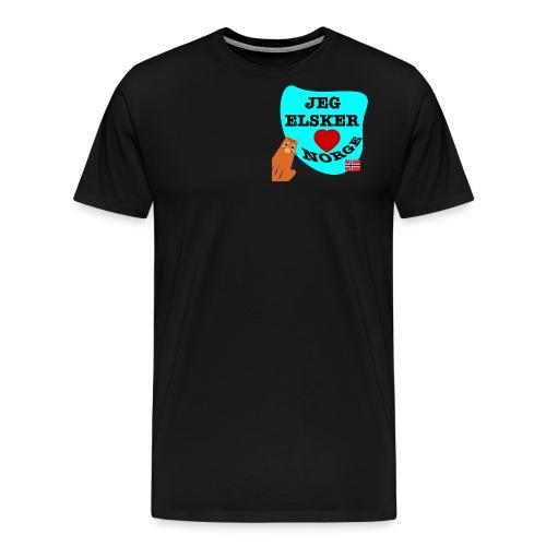 Jeg elsker Norge - Premium T-skjorte for menn
