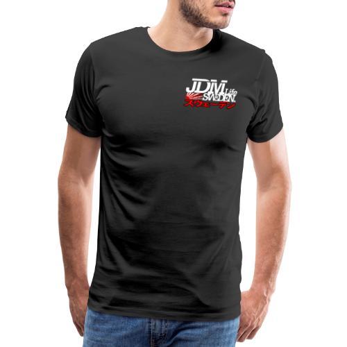 JDM Life Sweden vit - Premium-T-shirt herr
