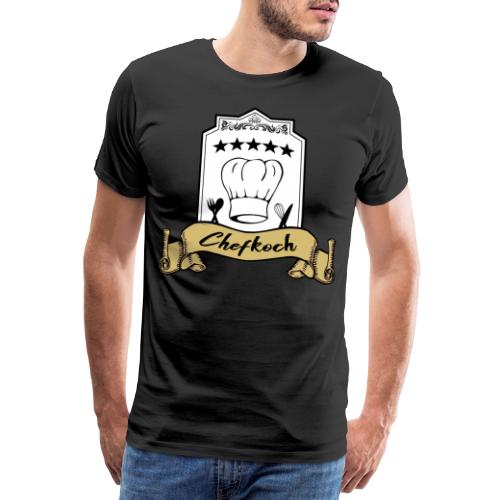Chefkoch leidenschaftlicher und überzeugter Koch - Männer Premium T-Shirt
