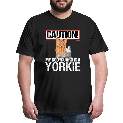 Yorkie Bodyguard - Miesten premium t-paita