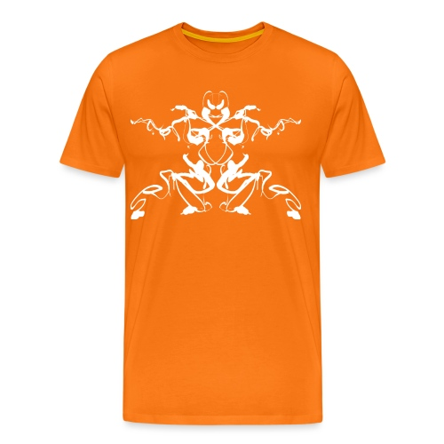 Rorschach test of a Shaolin figure Tigerstyle - Men's Premium T-Shirt