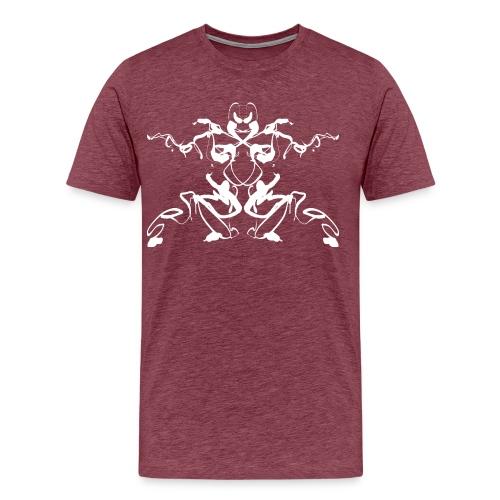 Rorschach test of a Shaolin figure Tigerstyle - Men's Premium T-Shirt