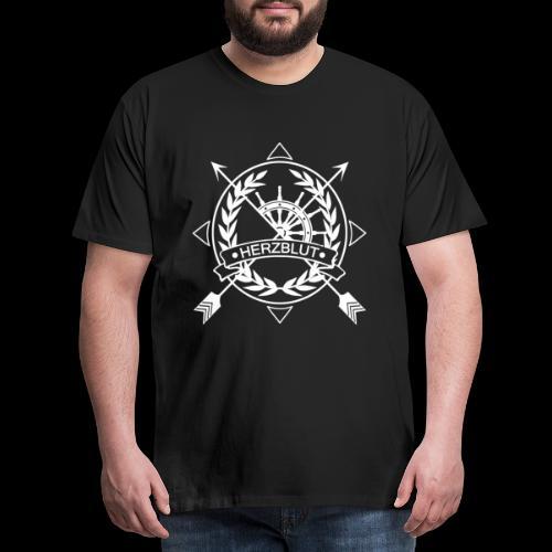 Arrow2 white png - Männer Premium T-Shirt