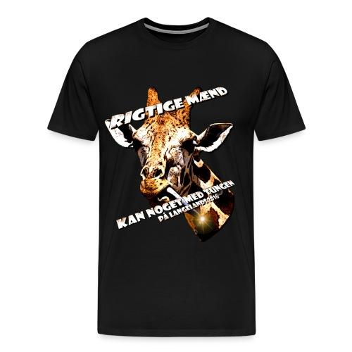 giraftunge3 gif - Herre premium T-shirt