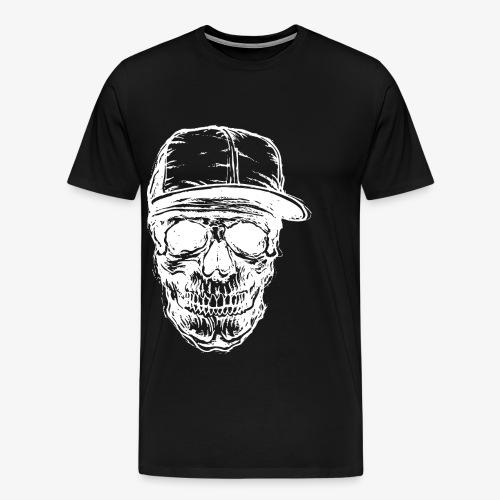 Crâne avec capuchon blanc | Designs Monkey - Mode - T-shirt Premium Homme