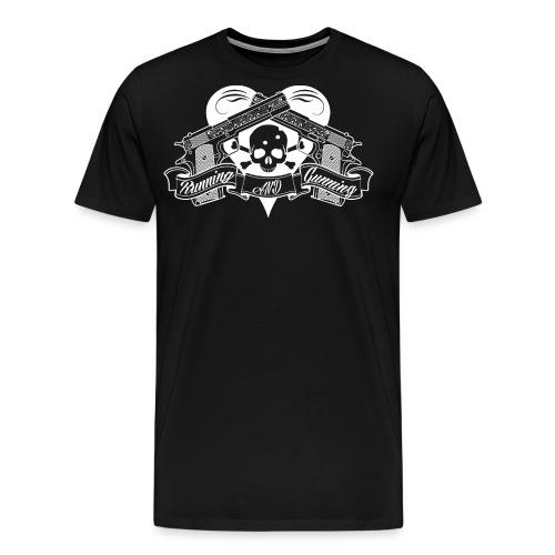 RunningAndGunning - Premium-T-shirt herr