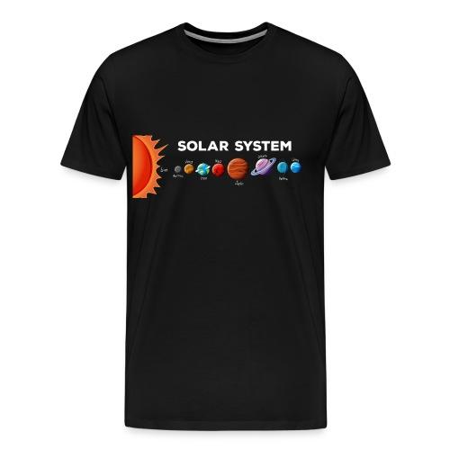 SOLAR SYSTEM - Maglietta Premium da uomo