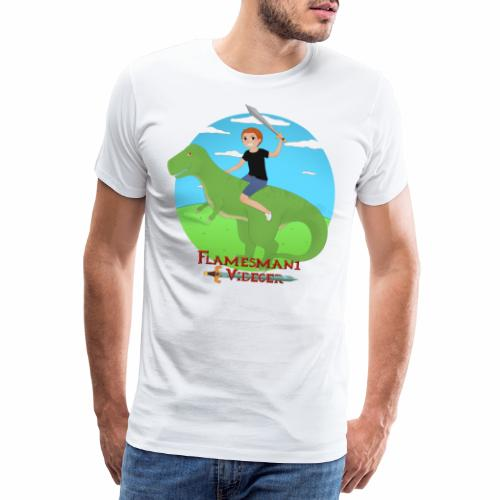 Simon på Dino - Herre premium T-shirt