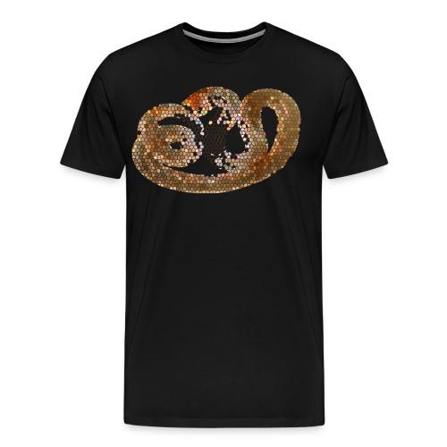Nippostrongylus brasiliensis female transparent - Men's Premium T-Shirt