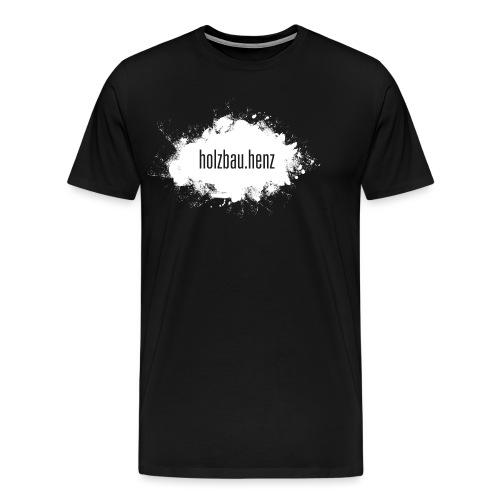holzbau.henz logo white - Männer Premium T-Shirt