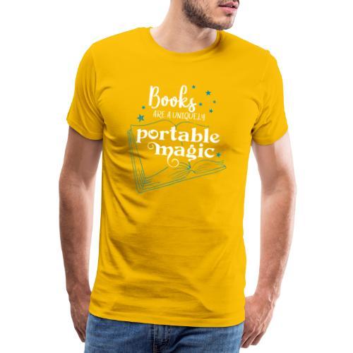 0030 books are unique magic | Magic - Men's Premium T-Shirt