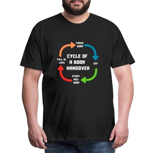 1003 circle of a book cat | book hangover - Men's Premium T-Shirt