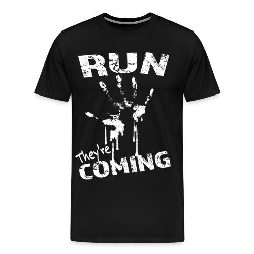 run_theyrecoming - Men's Premium T-Shirt