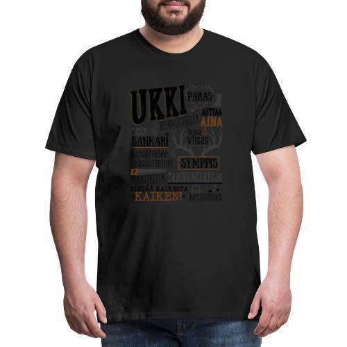 Ukin Oma Paita - Miesten premium t-paita