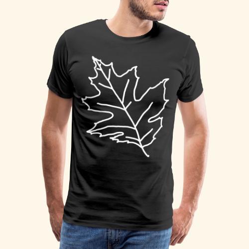Ahornblatt Maple Ahorn Leaf Blatt Baum Wald Forest - Männer Premium T-Shirt