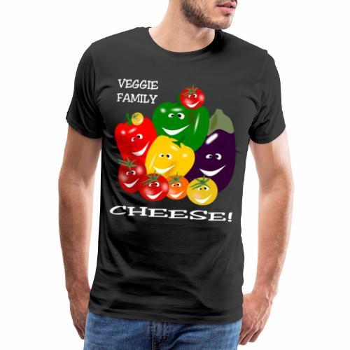 Veggie Family - Cheese! - Men's Premium T-Shirt