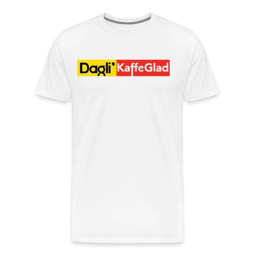 DAGLI' KAFFEGLAD - Herre premium T-shirt