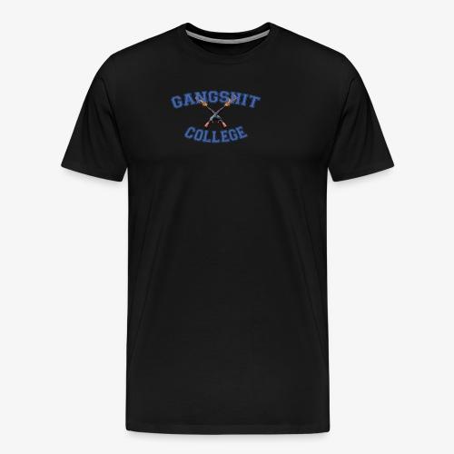 GANGSHIT COLLEGE - Premium T-skjorte for menn