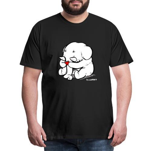 Stef 0002 00 Lesefant - Männer Premium T-Shirt