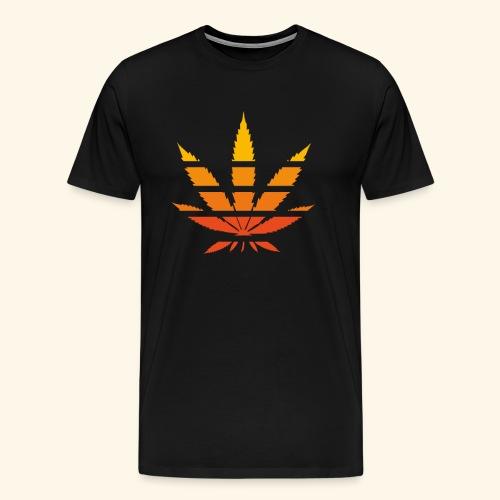 Hanfblatt Cannabisblatt weed maryjane Geschenk - Men's Premium T-Shirt