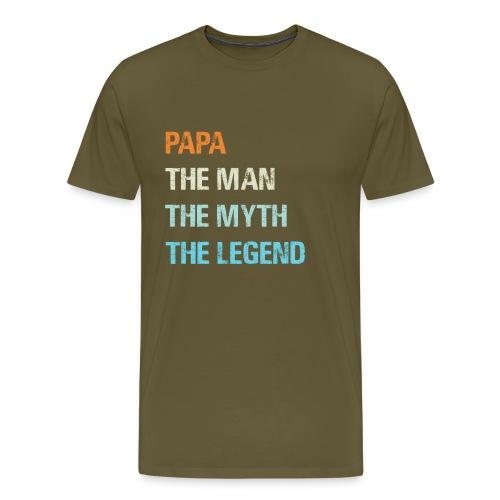Papa de man de legende. Cadeau idee vaderdag. - Mannen Premium T-shirt