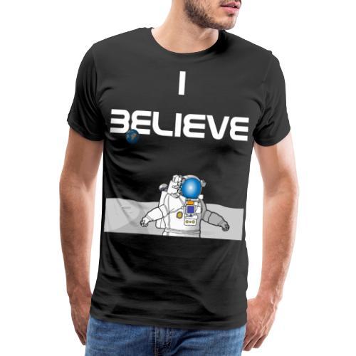i believe Alien Astronaut Mondlandung - Männer Premium T-Shirt