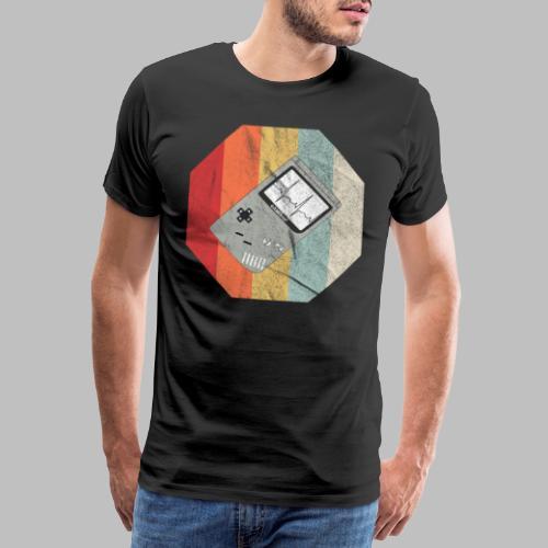 Spielekonsole Herzschlaglinie Gamer Old School - Männer Premium T-Shirt