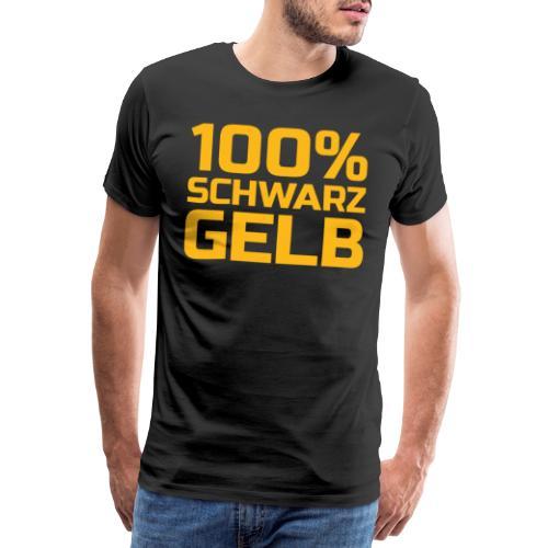 Fussball schwarz gelb - Männer Premium T-Shirt