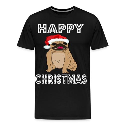 Hund Weihnachten Lustig geschenkidee Santa Claus - Männer Premium T-Shirt