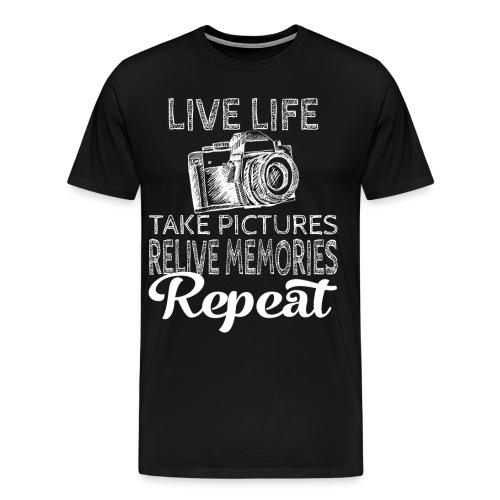 Take Pictures Skizzierter Fotoapparat Fotografie - Männer Premium T-Shirt