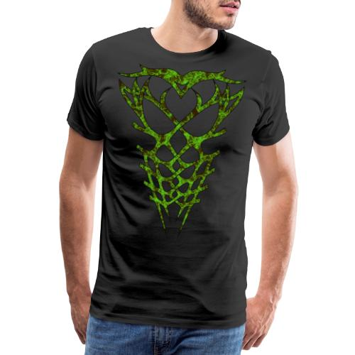 Green Front and Back Anatomy - Männer Premium T-Shirt