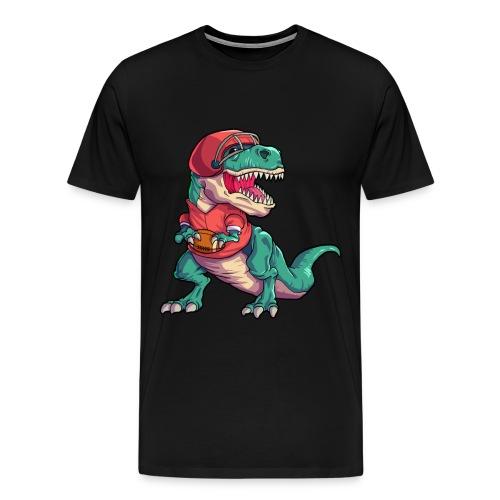 American Football Dino T-Rex Tyrannosaurus - Männer Premium T-Shirt