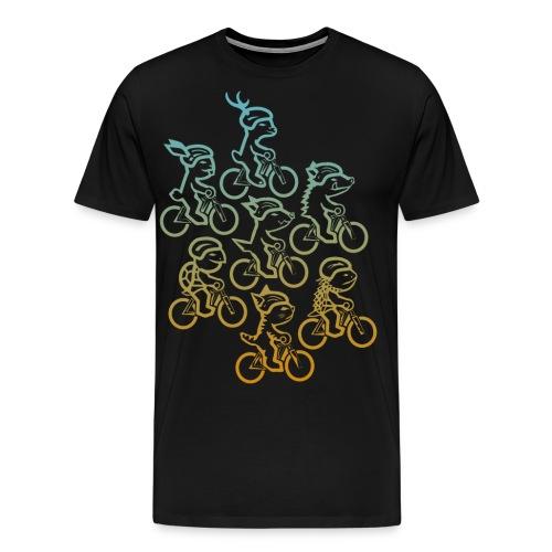 Manada ciclista - Camiseta premium hombre