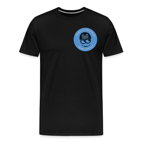 MoM Smiley Blau - Männer Premium T-Shirt