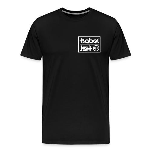 BABEL-ISH LOGO WHITE - Mannen Premium T-shirt