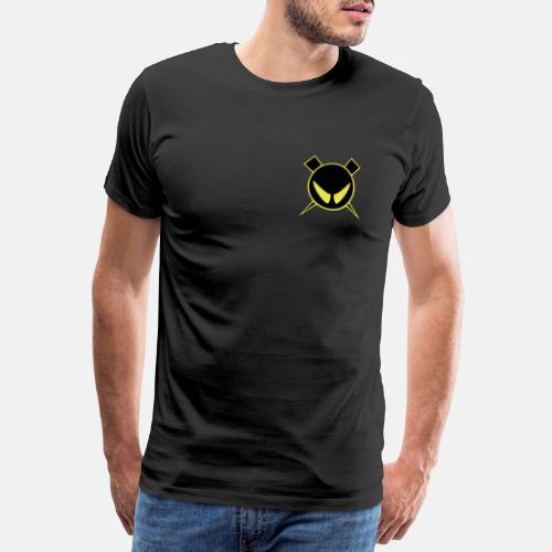 Pienempi logo Muista vaihtaa väri mustaksi - Miesten premium t-paita