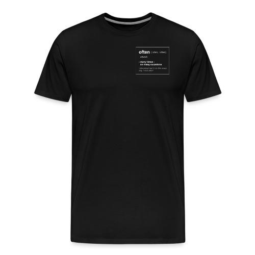 Define Often - Premium-T-shirt herr