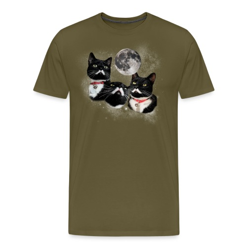 threestalinsandamoonNY png - Men's Premium T-Shirt