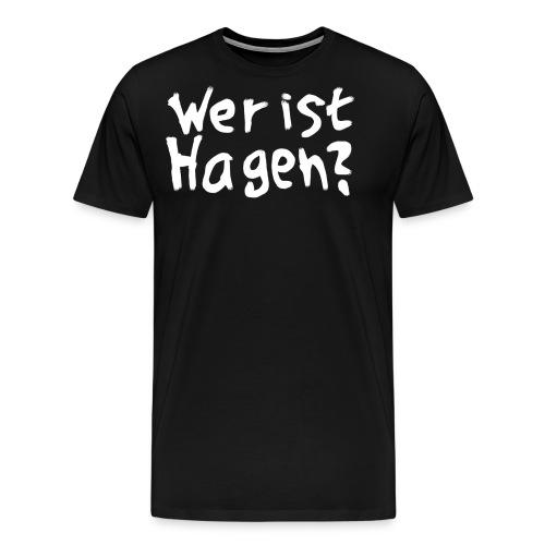 wer ist hagen tshirt comm free white png - Männer Premium T-Shirt