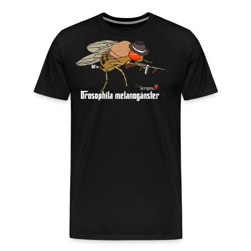 melanoganster camiseta v2 blanco png - Camiseta premium hombre