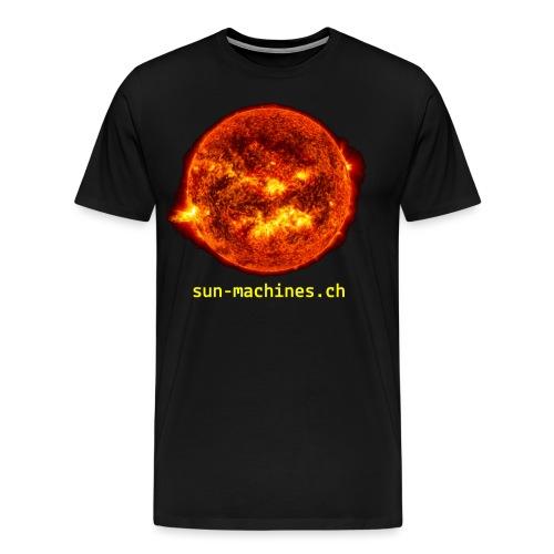 sun-yellow-text - Männer Premium T-Shirt