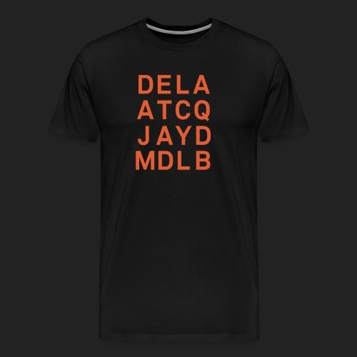 dela atcq jayd mdlb print - Men's Premium T-Shirt