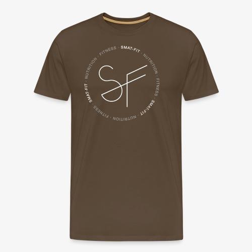 SMAT FIT FITNESS & NUTRITION BLACK HOMME - Camiseta premium hombre