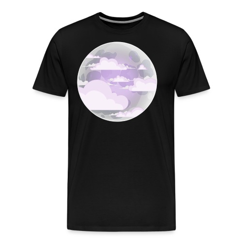 clouds - moon - Men's Premium T-Shirt
