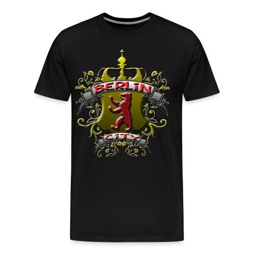 BERLIN CITY Wappen Berliner Bär mit Berlin City - Männer Premium T-Shirt